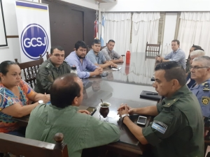 ANTE EL AVANCE DEL CORONAVIRUS SE REUNIÓ LA JUNTA DE DEFENSA CIVIL LOCAL.